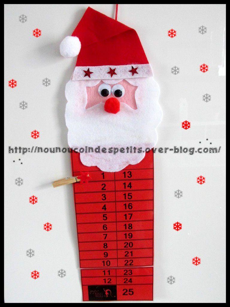 Calendrier De L'avent Pere Noel : calendrier, l'avent, Calendrier, L'avent, Père, Nounoucoindespetits