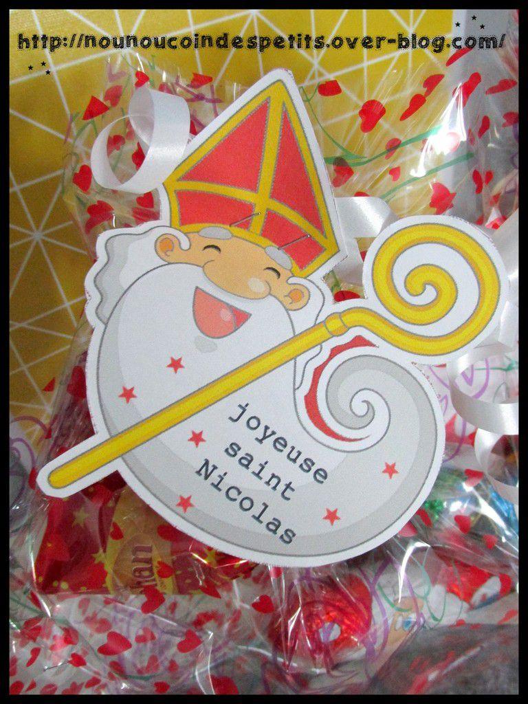 Etiquette Joyeuse Saint Nicolas A Imprimer Le