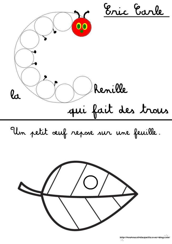 La Petite Chenille Qui Fait Des Trous : petite, chenille, trous, Activité, Autour, Livre, Chenille, Trous, Carle, Nounoucoindespetits