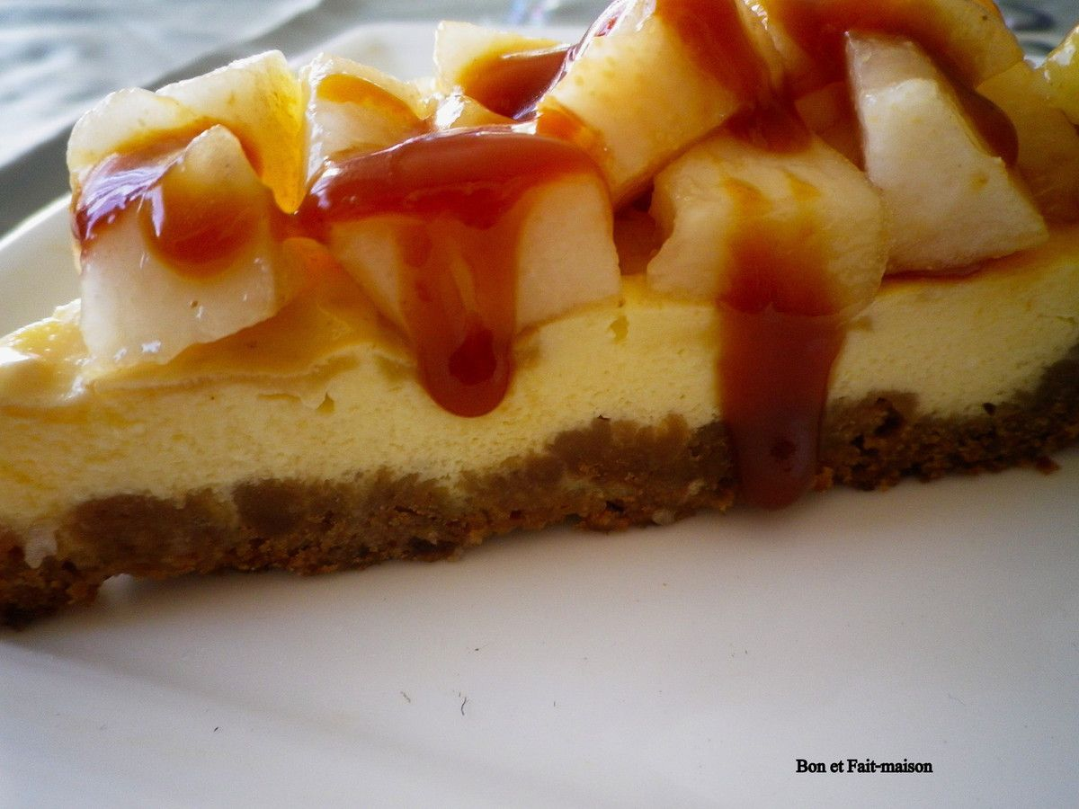 Cheesecake poires caramel