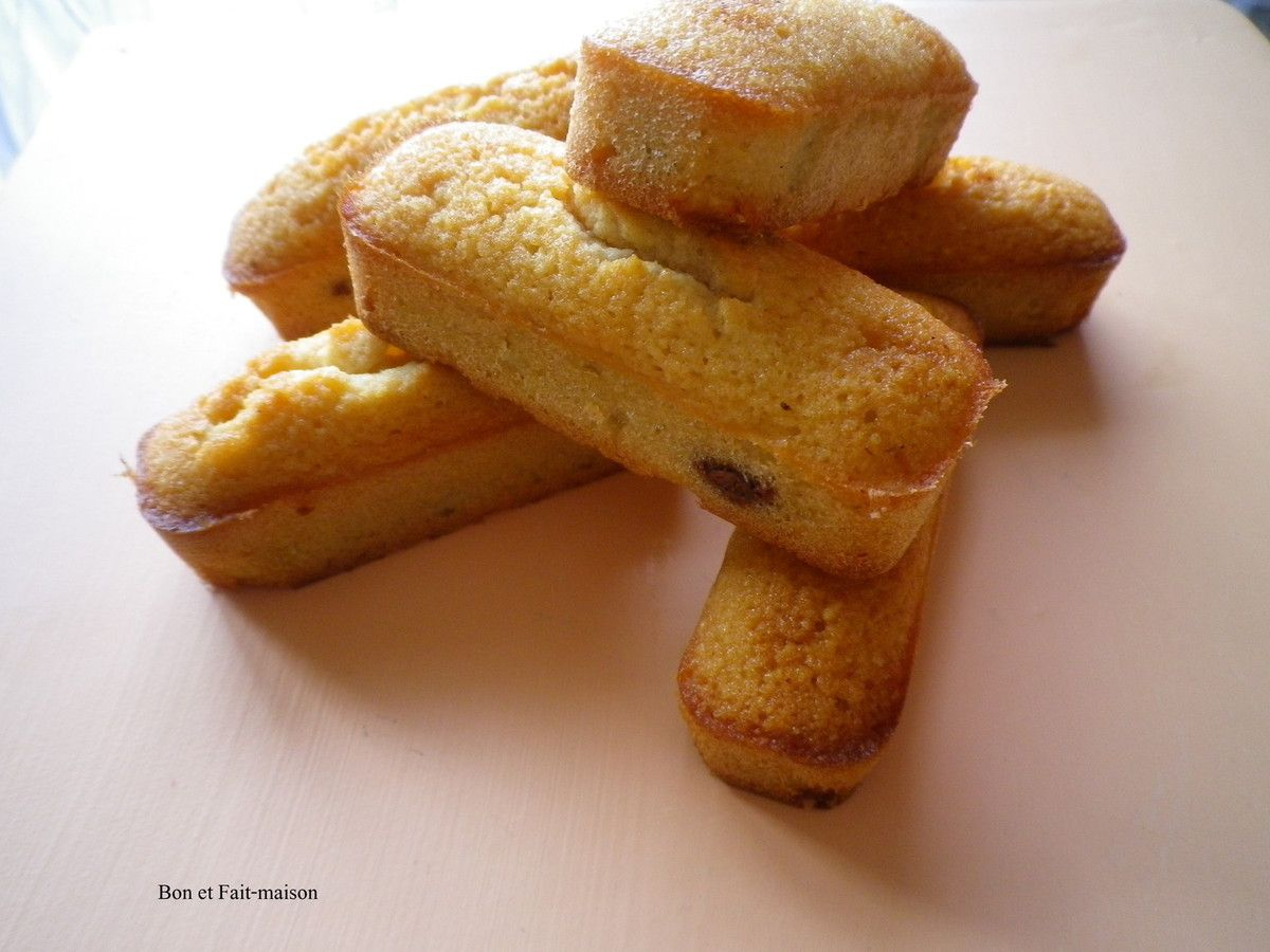 Financiers fourrés à la pâte à tartiner