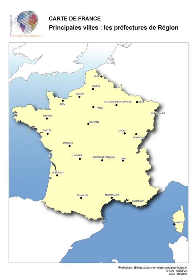 Carte Grandes Villes De France : carte, grandes, villes, france, Cartes, Vierges, France, Imprimer, Chroniques, Cartographiques