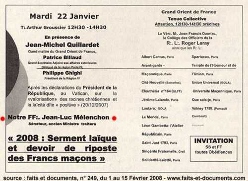 Mélenchon « insoumis » et « hors-système » mais… millionnaire et franc-maçon !