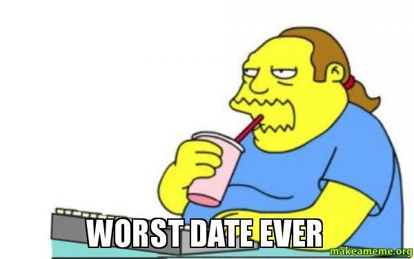 Image result for bad date cartoon