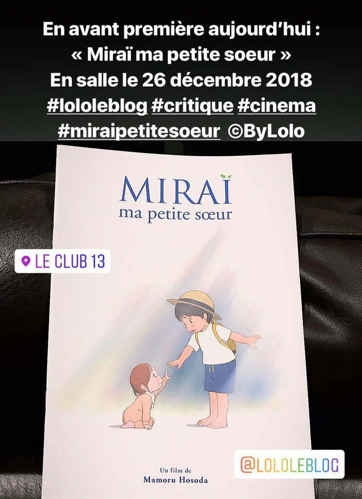 Mirai Ma Petite Soeur Critique : mirai, petite, soeur, critique, Miraï,, Petite, Sœur