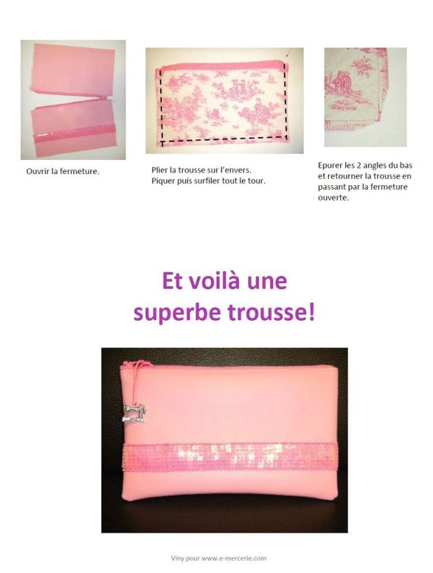 Trousse paillettes sequins