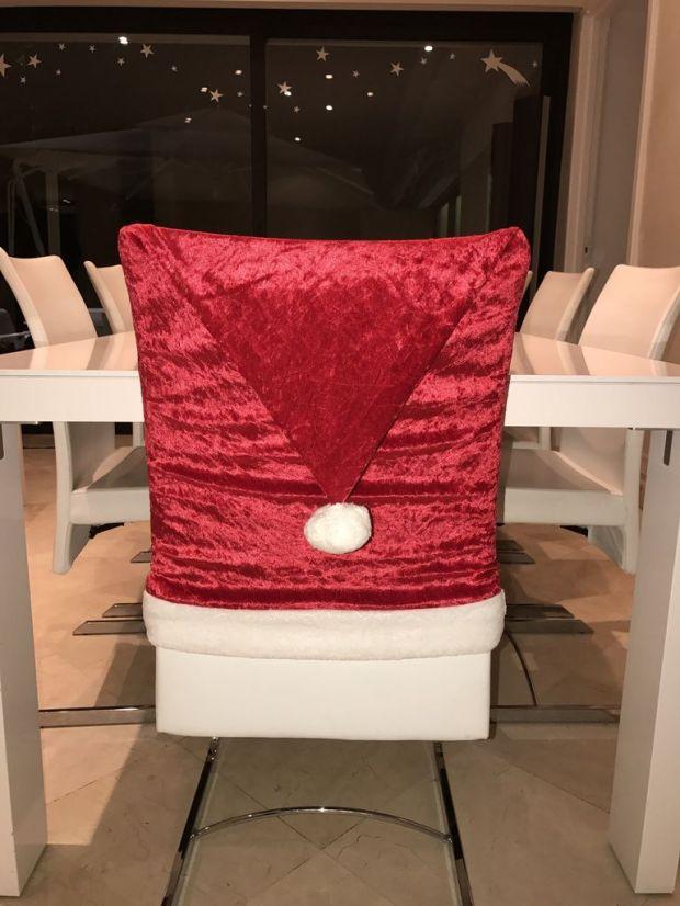 Housse de chaise Bonnet de Noël - Tuto Couture DIY