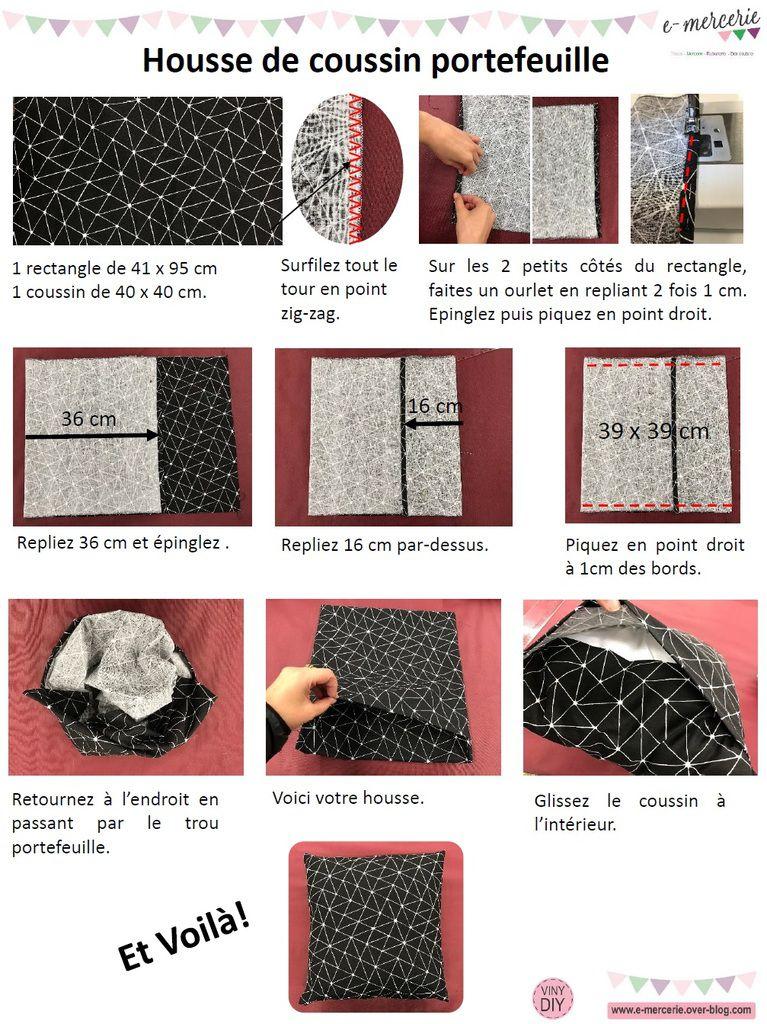 housse de coussin portefeuille tuto couture diy les. Black Bedroom Furniture Sets. Home Design Ideas