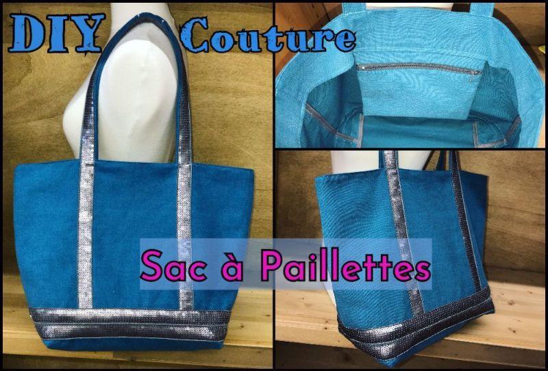 Sac Cabas à Paillettes - Tuto Couture DIY