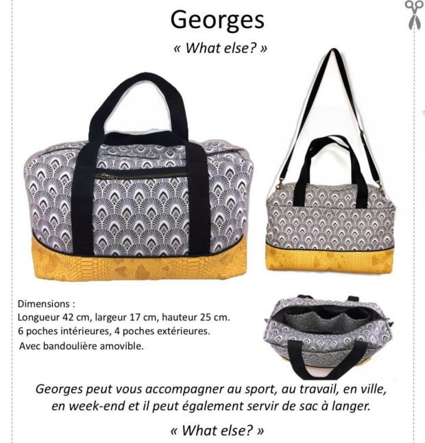 Georges Le Sac Indispensable Tutoriel Et Patron Couture Les
