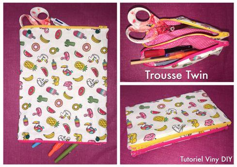 La Trousse Twin - Tutoriel Vidéo - Couture DIY