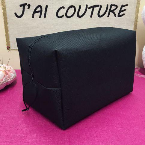 Maxi trousse de toilette - Tutoriel Couture DIY