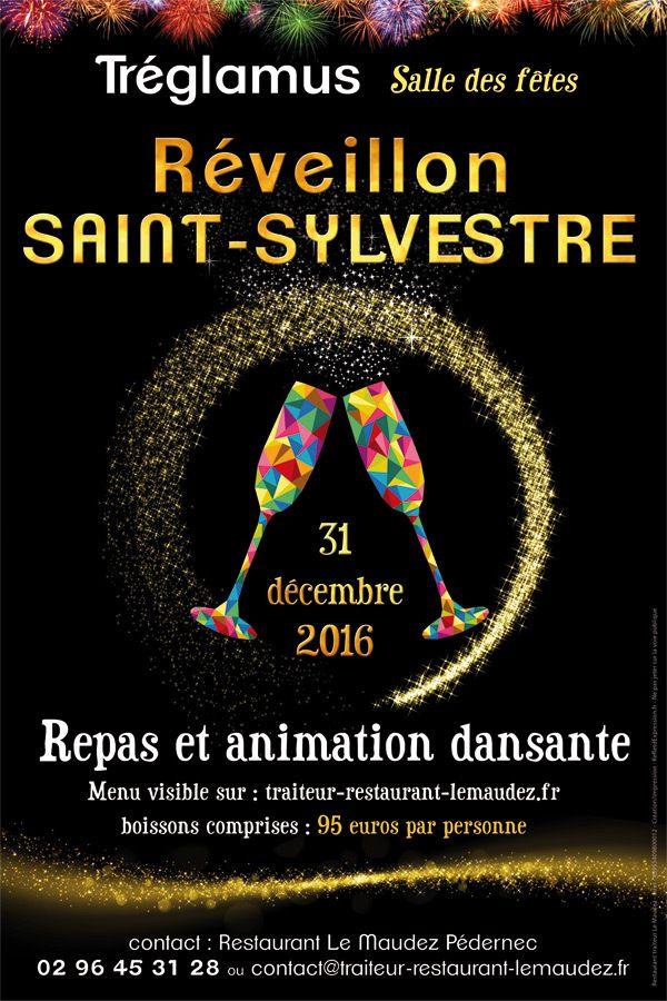 Affiche Promotionnelle Saint Sylvestre Rveillon Menu