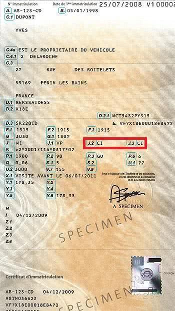 Importation et immatriculation d'une voiture en France