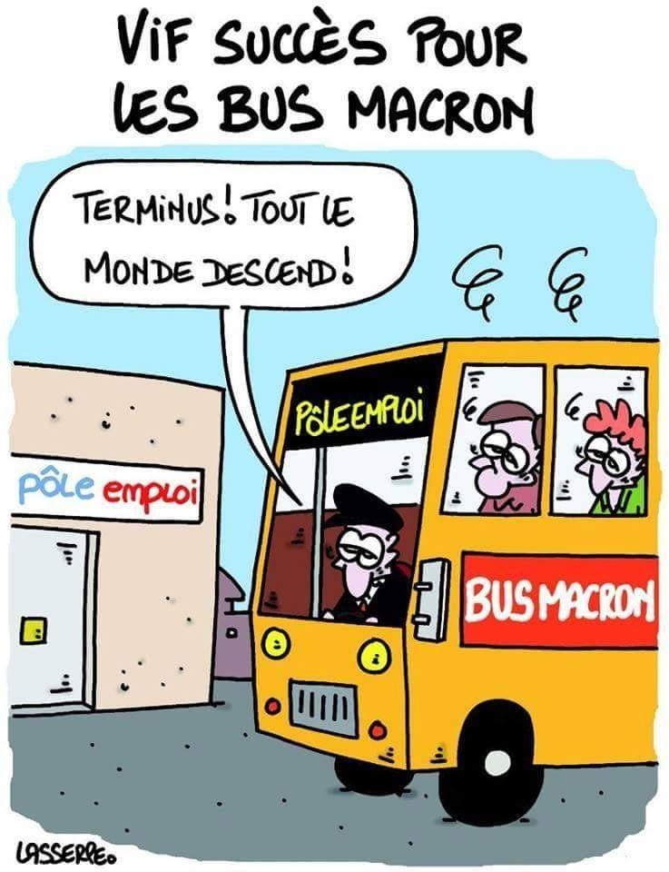 """Résultat de recherche d'images pour """"Macron a Pole emploi"""""""