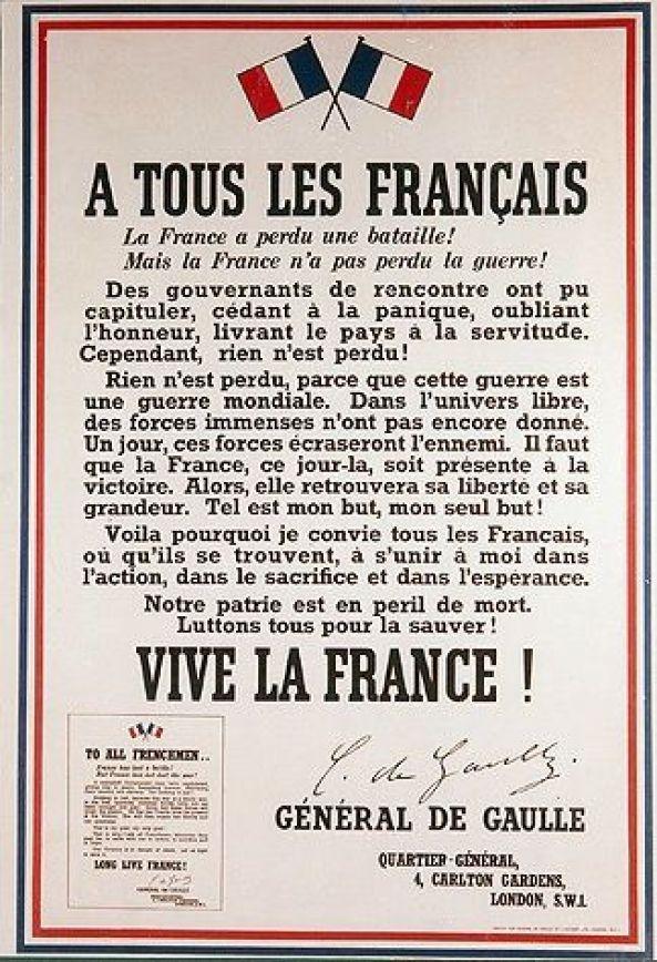 APPEL du 18 juin 1940 : le général de Gaulle entre en RÉSISTANCE