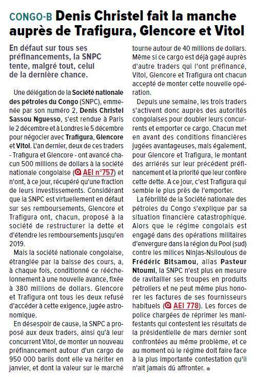CONGO/PETROLE : LES MAGOUILLES DE DENIS CHRISTEL SASSOU NGUESSO ENTRE MENDICITE ET ACTIONNARIAT
