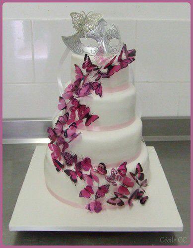 Wedding Cake Papillons Mes Gteaux Rigolos By Ccile CC
