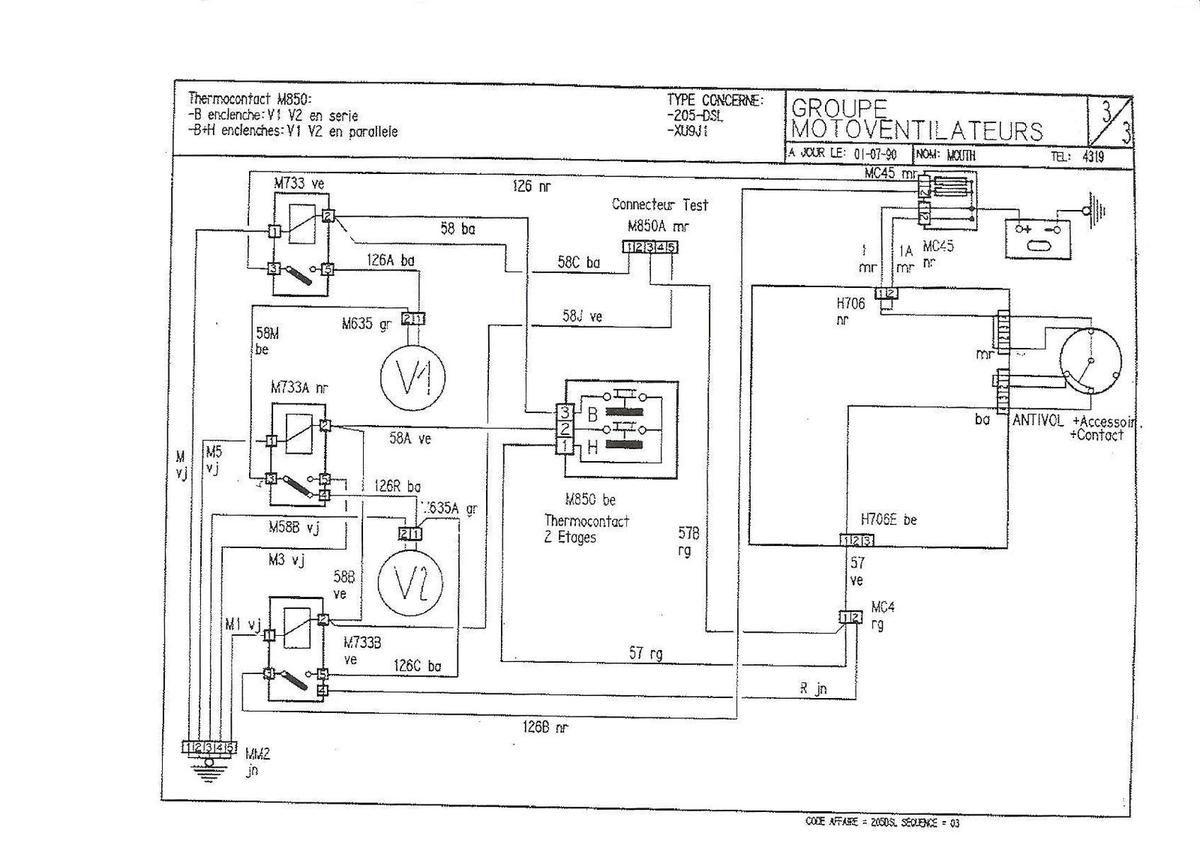 Schema Electrique Clignotant 205