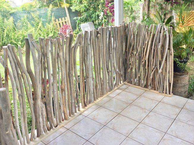 brise vue en bois flotte production