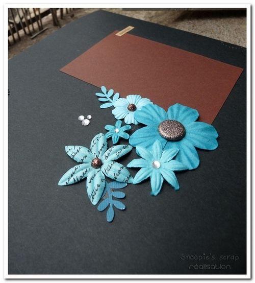 Livre d'or Laeti & Steph - Exotique - turquoise & chocolat
