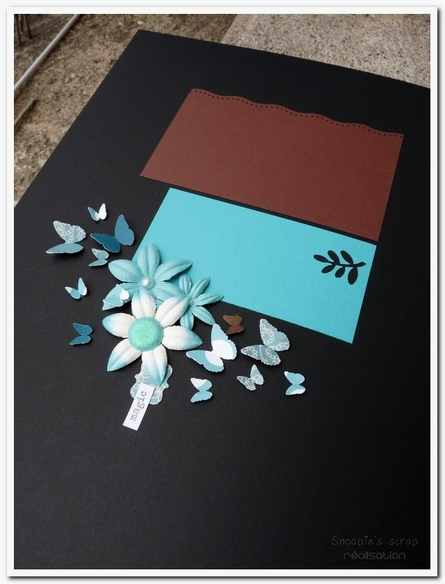 Livre d'or Aurélie & Freddy - exotique - turquoise & chocolat