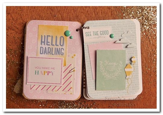 Cartoscrap - tuto - mini-album Little things