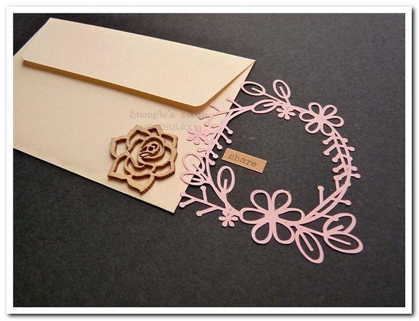 Livre d'or Aurélie & Christophe - champêtre, nature - rose, ivoire & chocolat marron