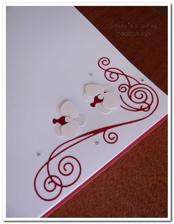 Livre d'or Lorène & Gaëtan - Blanc, gris, bordeaux (rouge foncé) - orchidées blanches