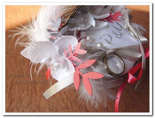 Porte alliances P & Y - exotique - corail, blanc & gris