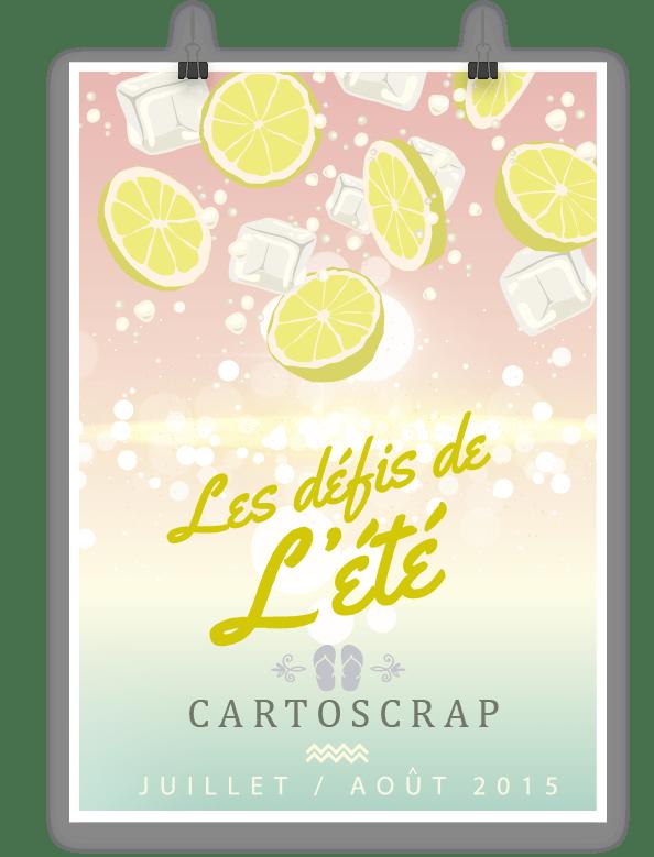 Cartoscrap - Les défis de l'été - 2 pages - semaine 2