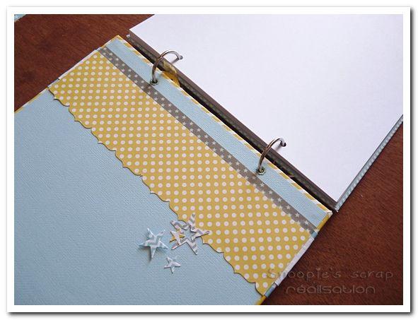 livre d'or - Baptême Arthur - jaune et bleu pastels & blanc - moustache