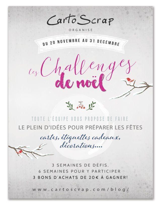 Cartoscrap - Challenges de Noël - challenge #3