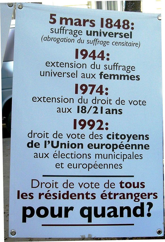 Le droit de vote des résidents étrangers