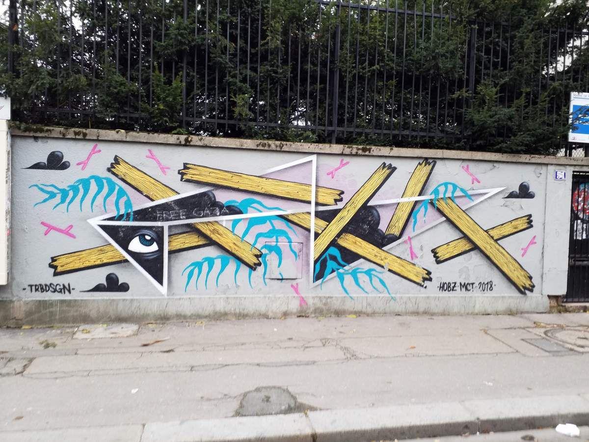 Peinture de rue, boulevard de Ménilmontant, le 8 mai 2018