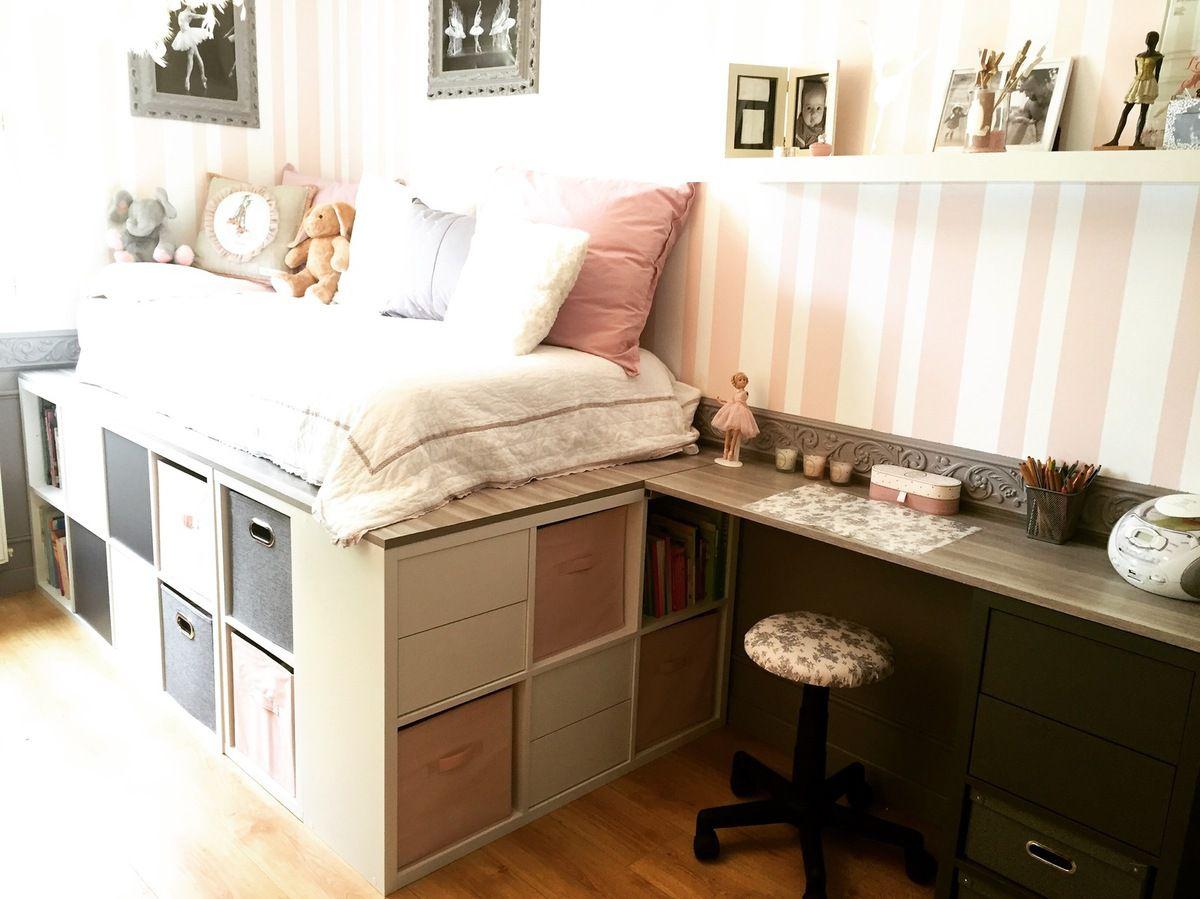 diy un lit dressing gain de place avec