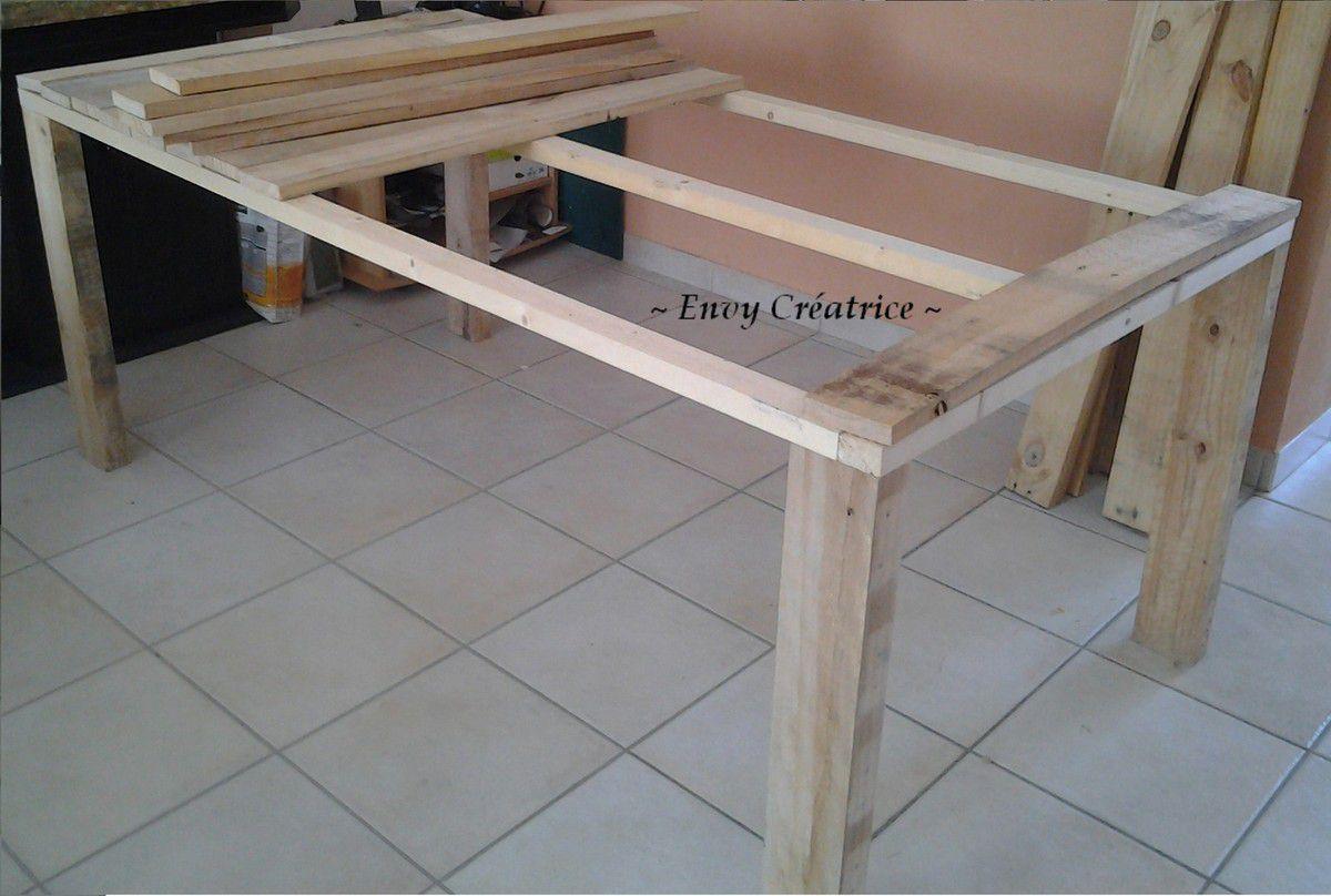 grande table en palette