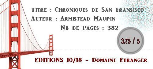Chroniques de San Fransisco - Armistead Maupin