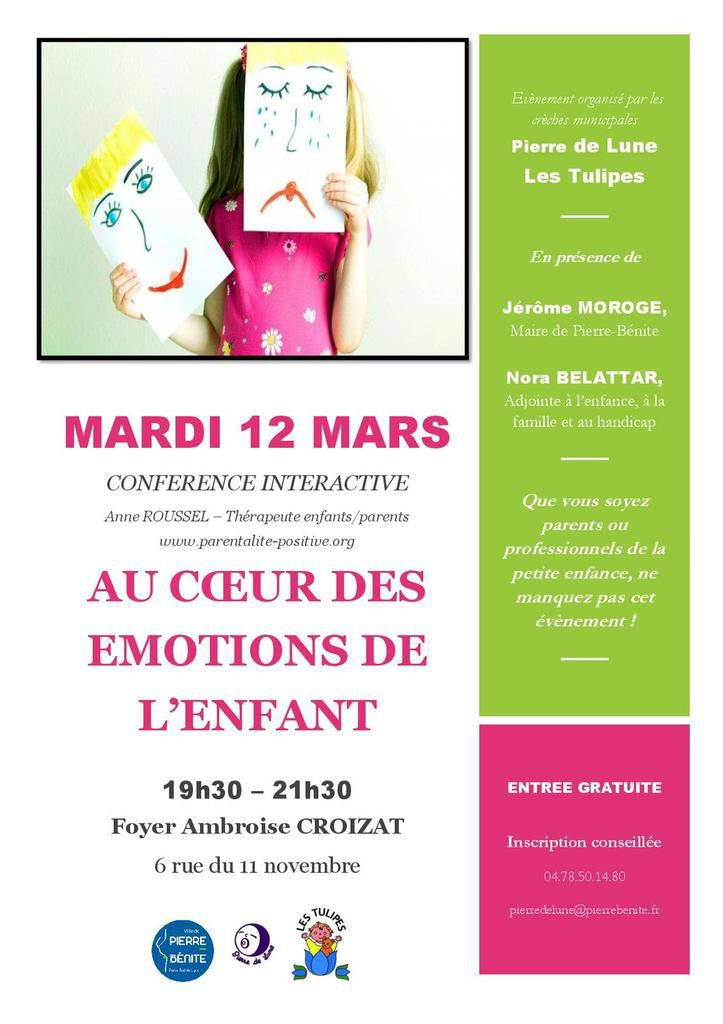 12 03 Conference Au Coeur Des Emotions De L Enfant