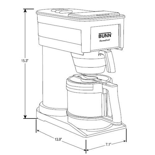 BUNN Best Coffee Maker BT Velocity Brew 10-Cup Thermal