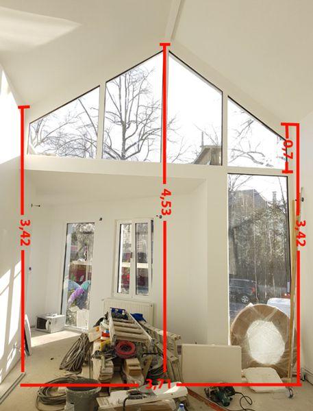 occulter une fenetre triangulaire en