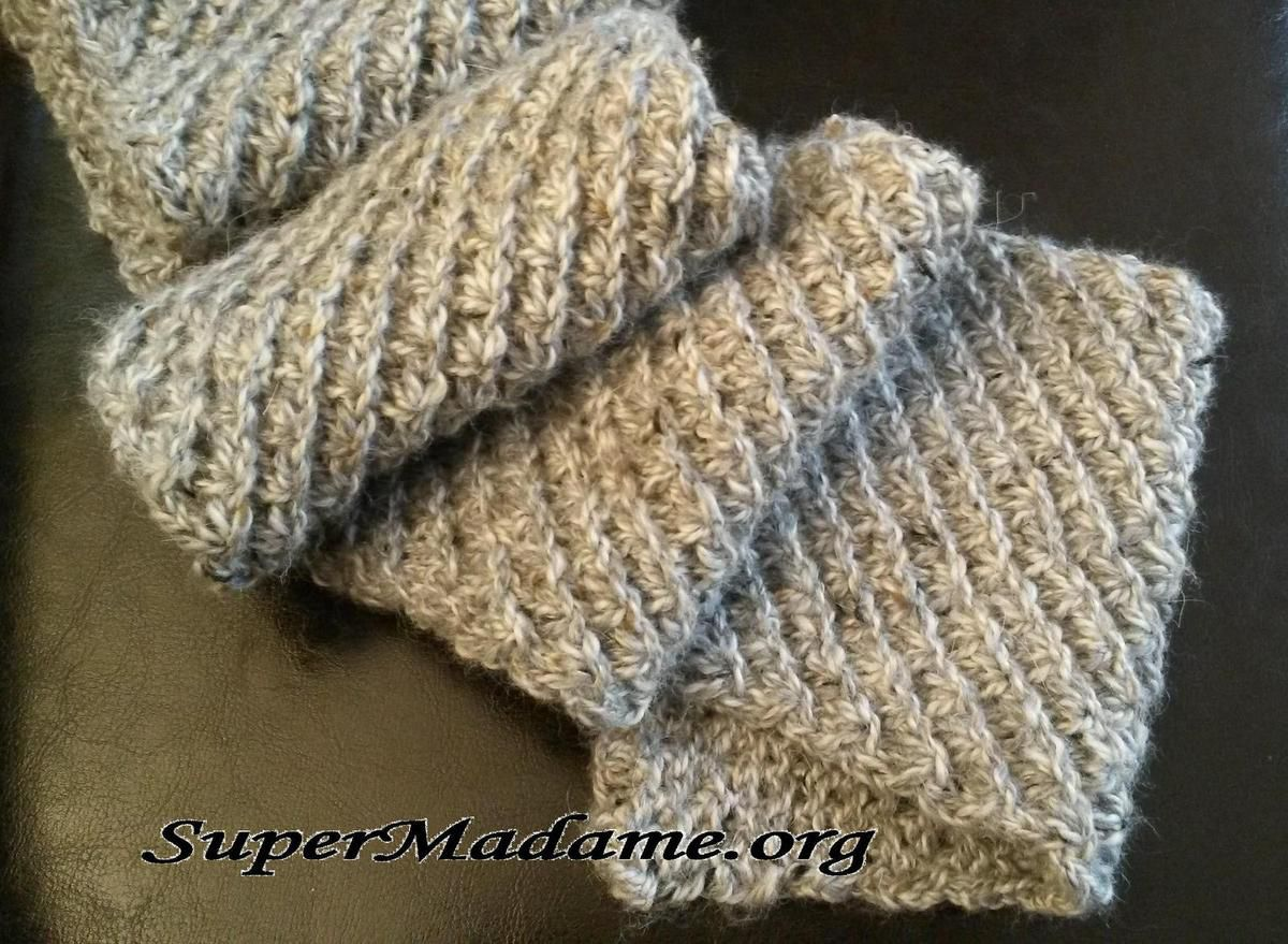 tricot echarpe au point etoile