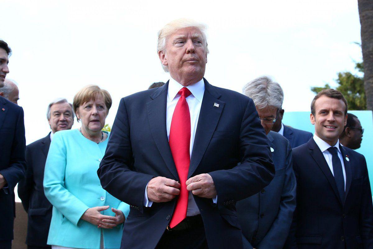 Donald Trump lors du sommet du G7 à Taormina en Sicile, le 27 mai 2017. © Thomson Reuters.