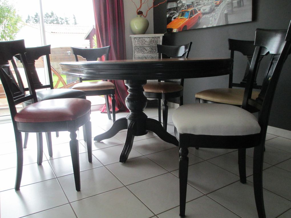 Relooking Dune Table LOUIS PHILIPPE Et Chaises Coco