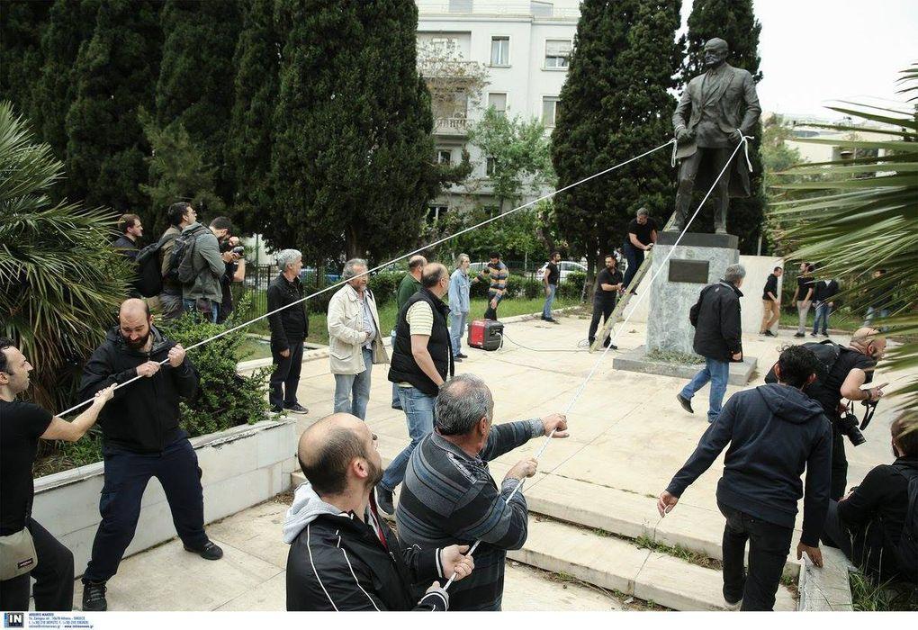Répression policière du gouvernement SYRIZA contre une manifestation anti-impérialiste des étudiants grecs