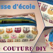 Coudre une Trousse d'école - Tuto Couture DIY Facile - Viny DIY, le blog de tutoriels couture et DIY.