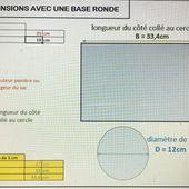Outil de calcul de dimensions avec une base ronde - Calculateur Base Ronde Viny DIY - Viny DIY, le blog de tutoriels couture et DIY.
