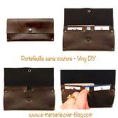 Portefeuille sans Couture - Tutoriel DY - Viny DIY, le blog de tutoriels couture et DIY.