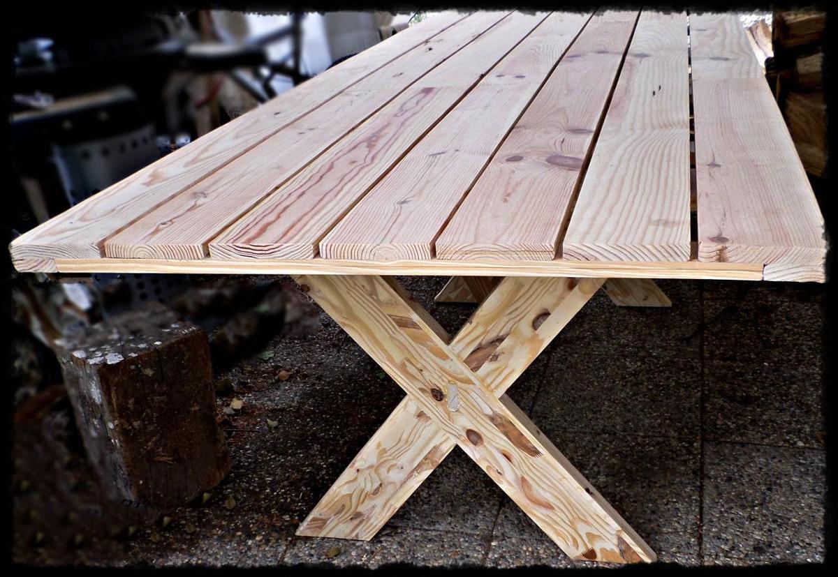 Table Bois Exterieur Grand Banc Bar Exterieur En Bois Table Et
