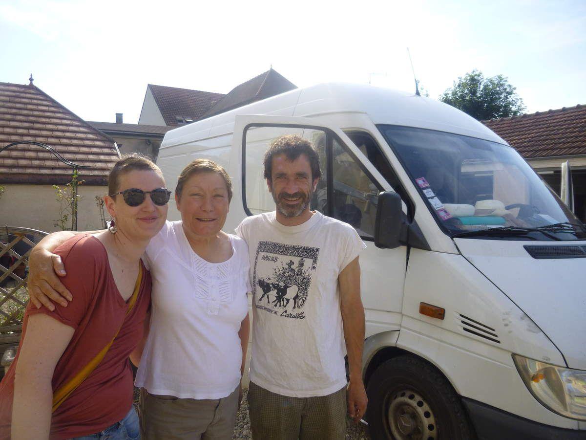 mercredi 14 juin matin - avec Martine, avant de repartir d'Auxerre